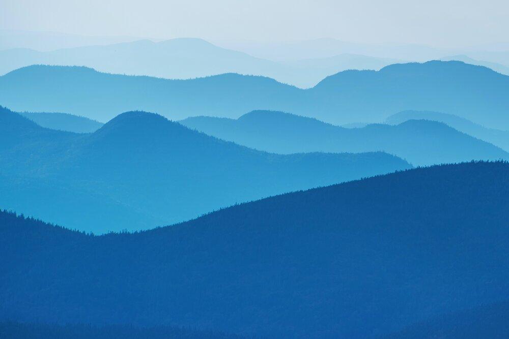 Paysage bleu -kwuillot