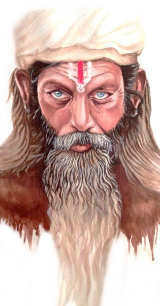Portrait homme barbu -kwuillot