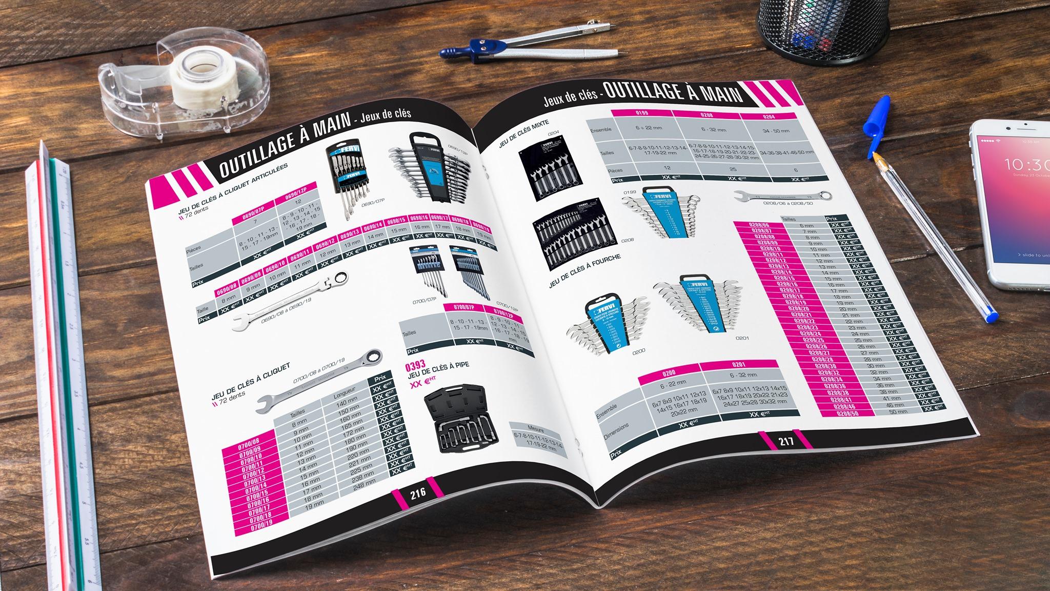 Catalogue produits industriels - outillage